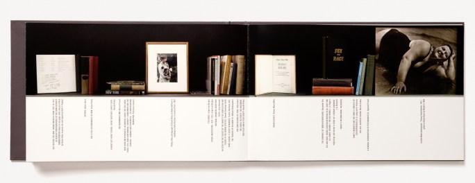 Open book of a library catalogue