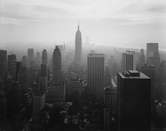 South View from 48th Street, N.Y.C., 1975, gelatin-silver contact print