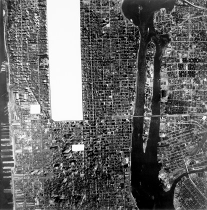 Part of Manhattan with Central Park,