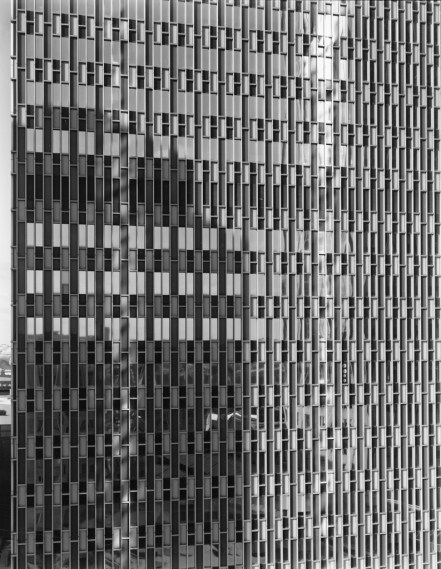 NICHOLAS NIXON, View of Prudential Building, Boston, 2009, gelatin-silver contact print