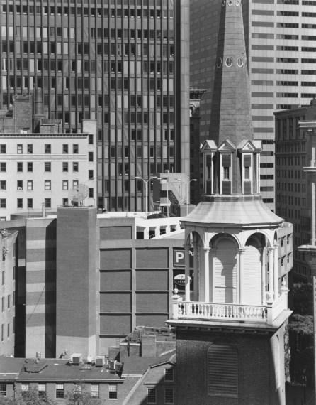 NICHOLAS NIXON, View of the Old South Meeting House, Boston, 2008, gelatin-silver contact print