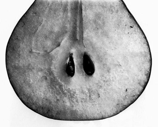 Pear with Seeds (A), New York, 1993, platinum-palladium print