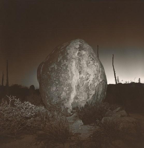 Untitled (Rock), 1976, split-toned selenium gelatin-silver print