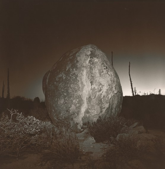 Untitled (Rock), 1976, split-toned selenium gelatin-silver print