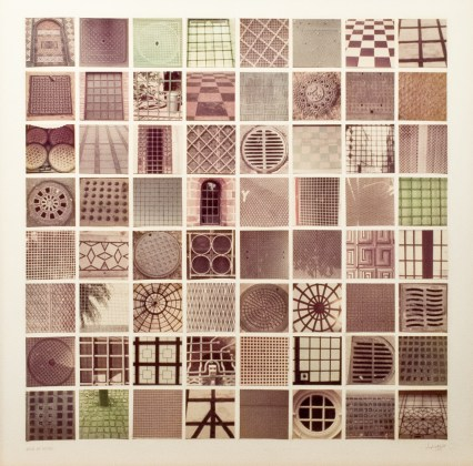 Grids of Grids, 1976, sixty-four chromogenic prints  mounted on board