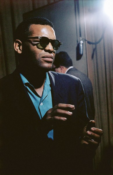 Color photograph of a man wearing sunglasses