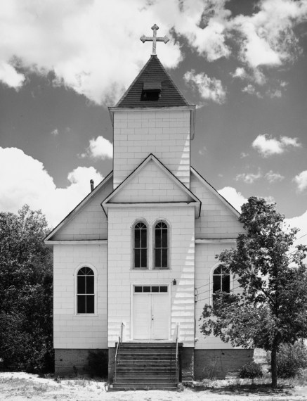 Catholic church, summer. Ramah, Colorado, 1965, gelatin-silver print