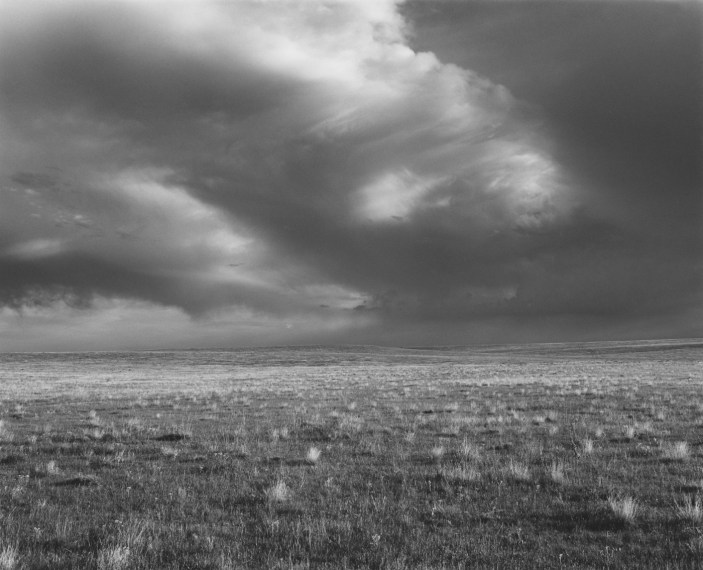 Storm over Pawnee National Grassland, Colorado, 1984, gelatin-silver print