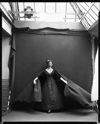 Richard Avedon, Suzy Parker, Evening Dress by Dior, Paris Studio,  Paris France , August 1956, gelatin-silver print