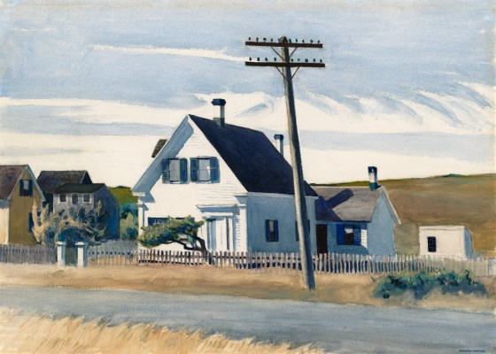 Lombard's House, 1931, watercolor & gouache on paper