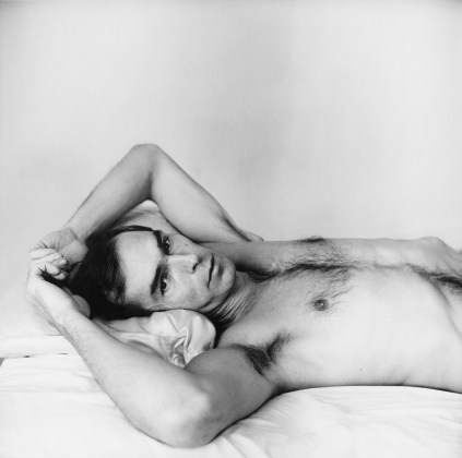 Self Portrait Lying Down, 1975 / printed later, pigment print