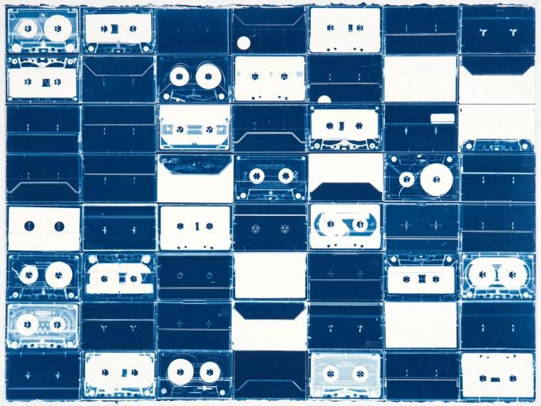 Cassette Grid No. 10, 2009, cyanotype