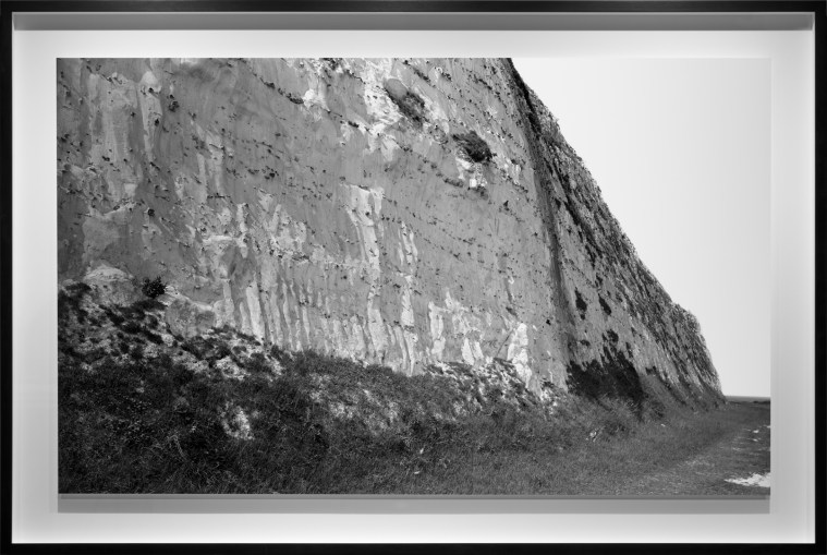 White cliffs, Dover, 2013, gelatin-silver contact print