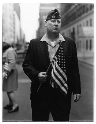 Veteran with a flag, N.Y.C. 1971