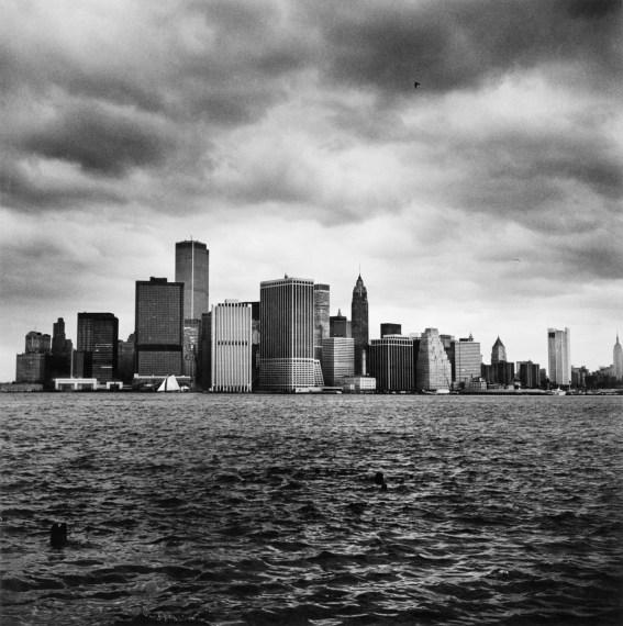 Lower Manhattan from the Harbor , 1976, gelatin-silver print