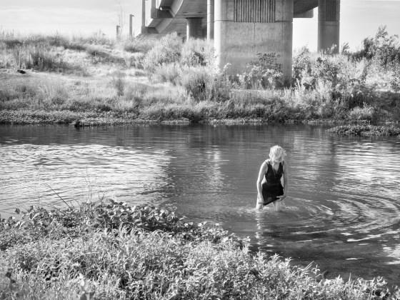 Katy Grannan, Deb Soaking Wet, Tuolumne River, Modesto, CA, 2013
