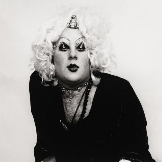 Cockette in a Blond Wig, 1971, gelatin-silver print