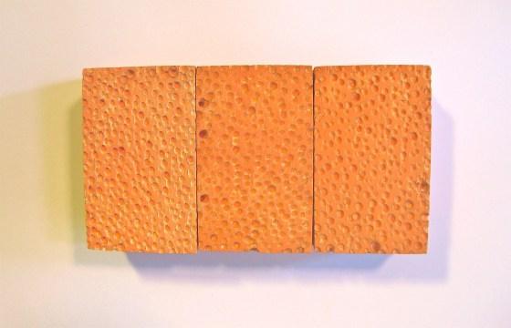 George Stoll, Untitled sponge painting (orange nine pack) , 1998