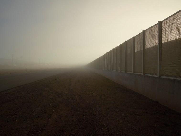 Post and Wire Mesh Fence, Douglas, Arizona, 2015, pigment print