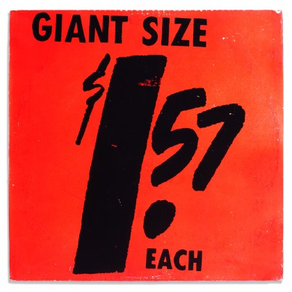 Andy Warhol, Giant Size $1.57 Each   [Interviews with Artists Participating in The Popular Image   exhibition at The Washington Gallery of Modern Art], 1963, record album