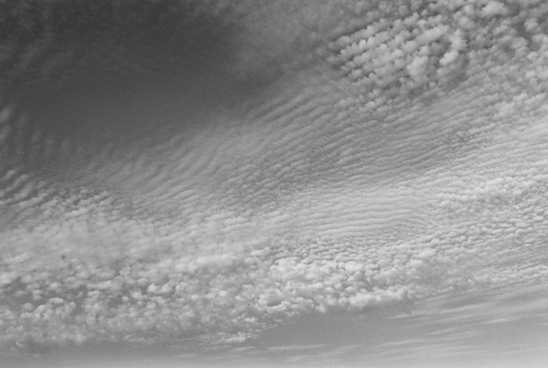 black-and-white horizontal photo of clouds