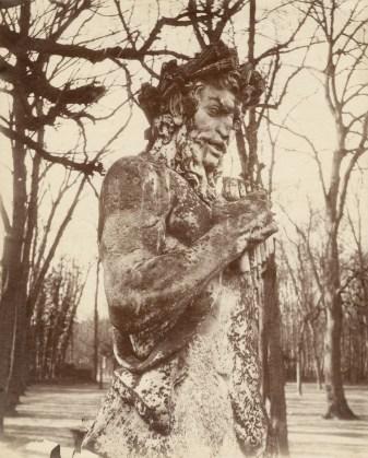 Eugène Atget, Versailles (Faune), 1901, albumen print