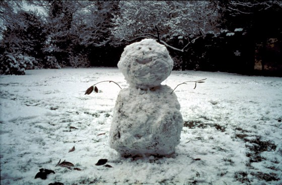 Nan Goldin, Snowman, Priory Hospital, London, 2002, Cibachrome print