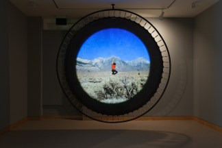 Installation view of Richard T. Walker