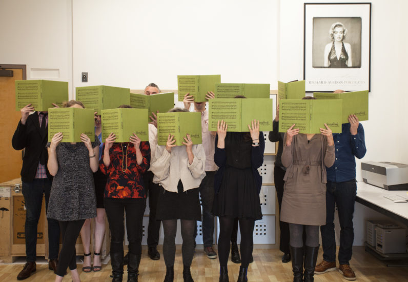 Staff sing-a-long on the occasion of Alec Soth's Songbook, 2015