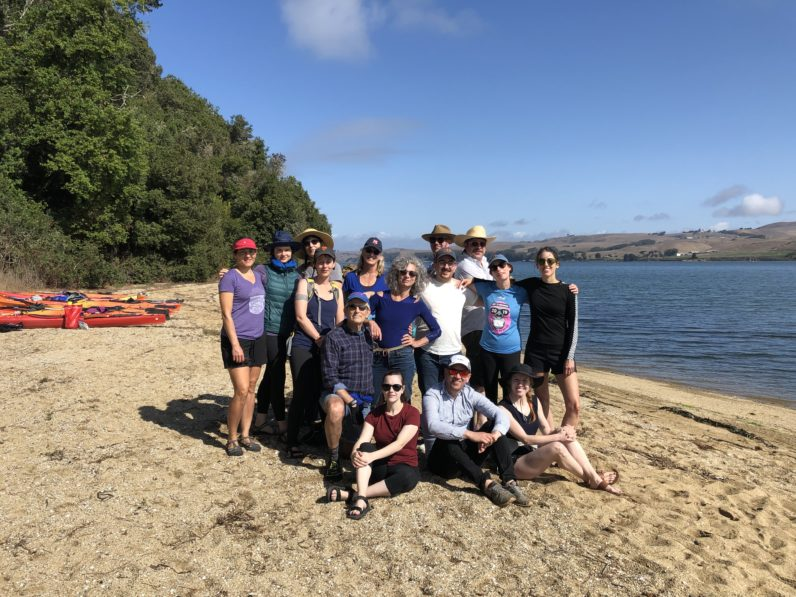 Staff celebrate the gallery's 40th anniversary with a kayaking trip, 2019