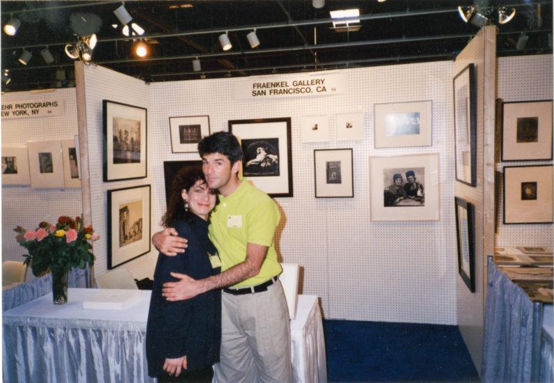 Frish Brandt and Jeffrey Fraenkel at an early art fair