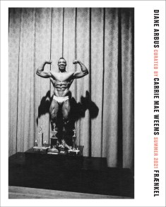 Poster of a black and white photograph of a body builder posing