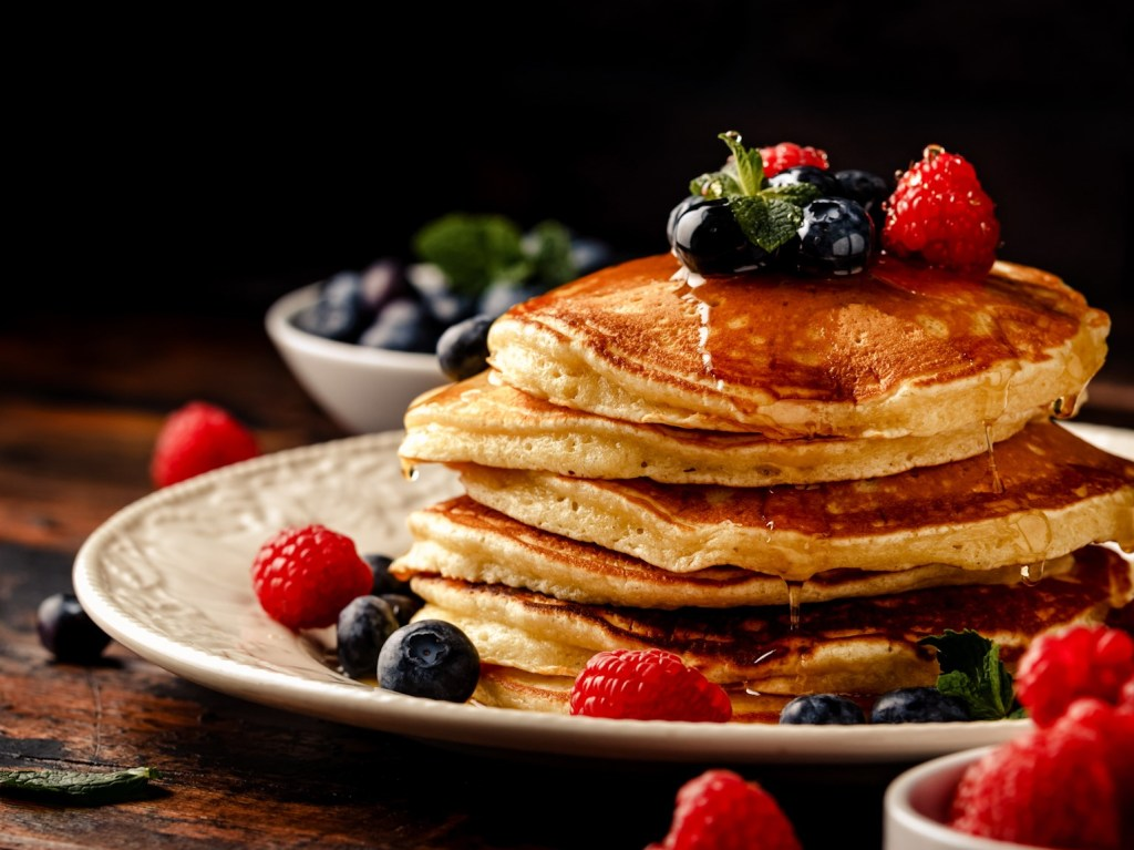 Amerikanische Dinkel Pancakes