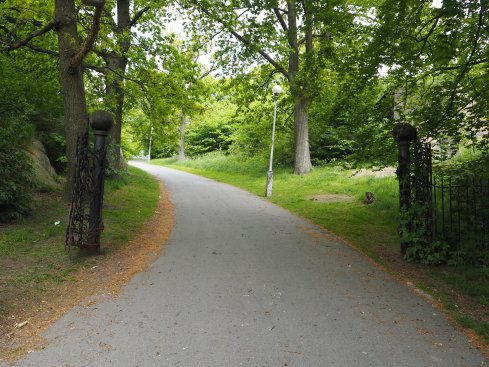 Weg zum Skansen Kronan