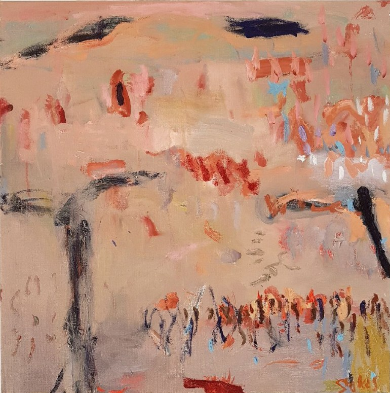 SALLY STOKES Australia_Mangrove Roots_2016_61x61cm_oil on linen_$950.
