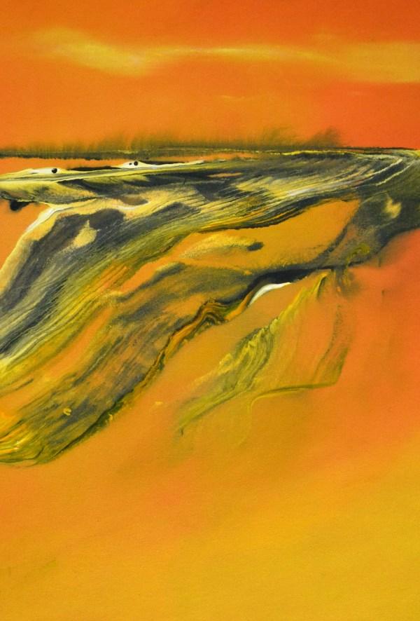 y Abstrakte Landschaft 5-2017, 70 cm x 50 cm, Acryl auf Baumwollsegeltuch