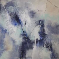"""Andreea Zecheru, """"Blue"""" series - """"In Flow"""", 2018"""