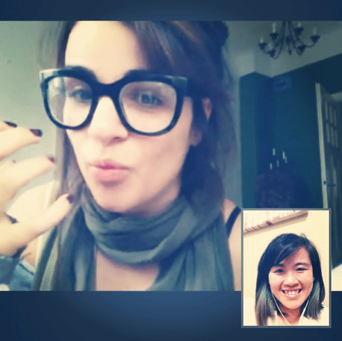 Skyping with the Wifey