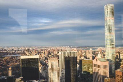 panoramy Nowego Jorku z Top of the Rock Observation Deck