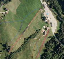 widok na okolicę i letni tor saneczkowy (źródło: mapy Google)