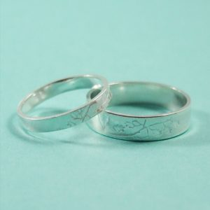 Oak Leaf Wedding ring set 13