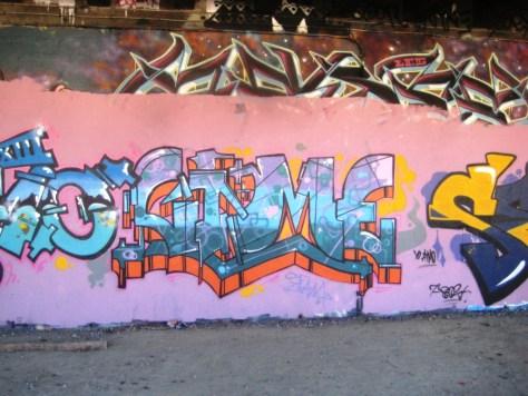 Demo, Sime - graffiti - besancon, sept2013 (2)