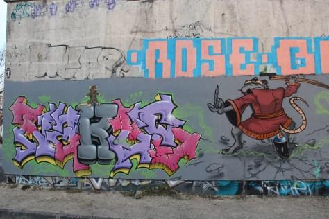 graffiti Dijon - la nuit tous les rats sont gris izi (1)