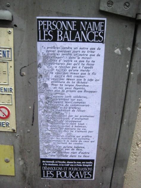 besancon-fevrier 2014 - affiche - personne n'aime les balances