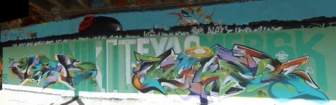 Mesh, Wyker - graffiti - besancon, arenes - avril 2014 (1)