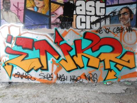 Enkr - graffiti - besancon - juin 2014