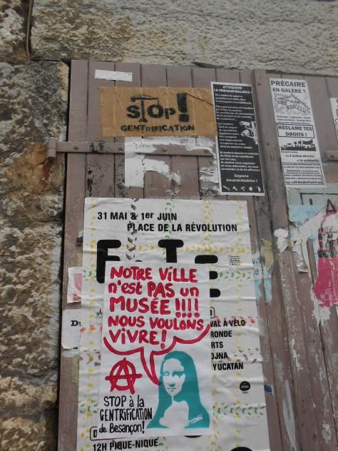 besancon, juin 2014 - affiche - stop gentrification