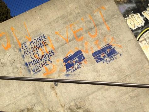 2014-03-16 Lausanne_stencil_ce monde assassine les mauvaises vaches
