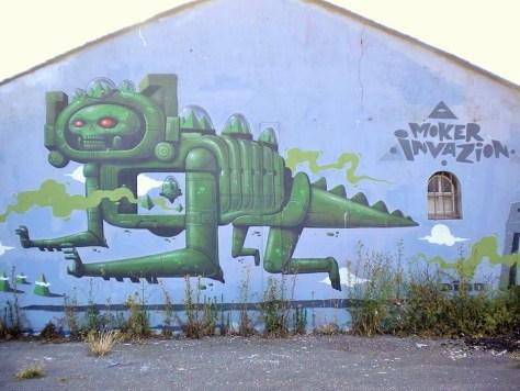 Moker Crew, Graffiti, Lorient, aout 2014 (2)