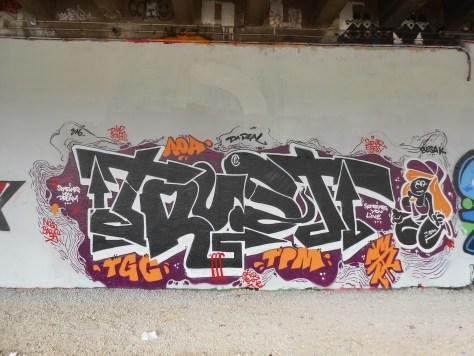TRUST, TGC - graffiti - Besancon 2016